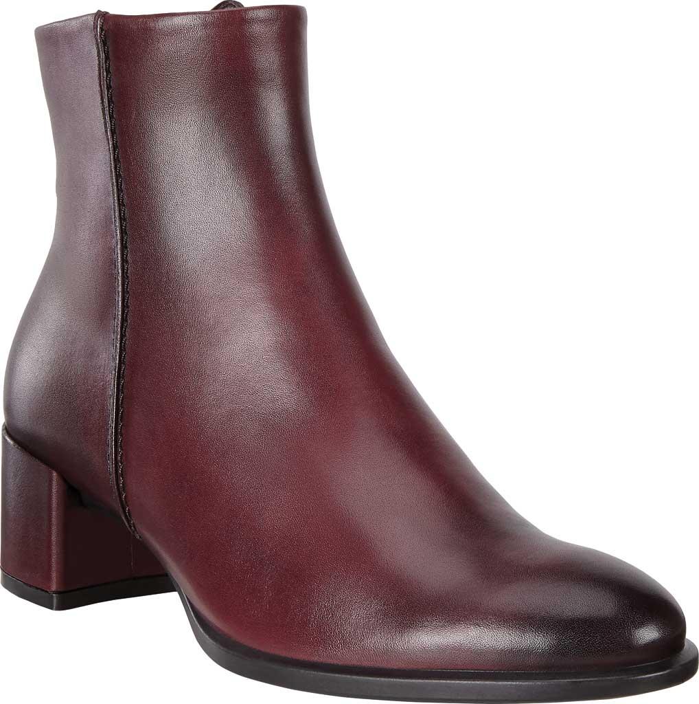 Women's ECCO Shape 35 Block Ankle Boot, Bordeaux Cow Leather, large, image 1