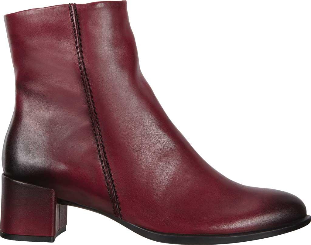 Women's ECCO Shape 35 Block Ankle Boot, Bordeaux Cow Leather, large, image 2