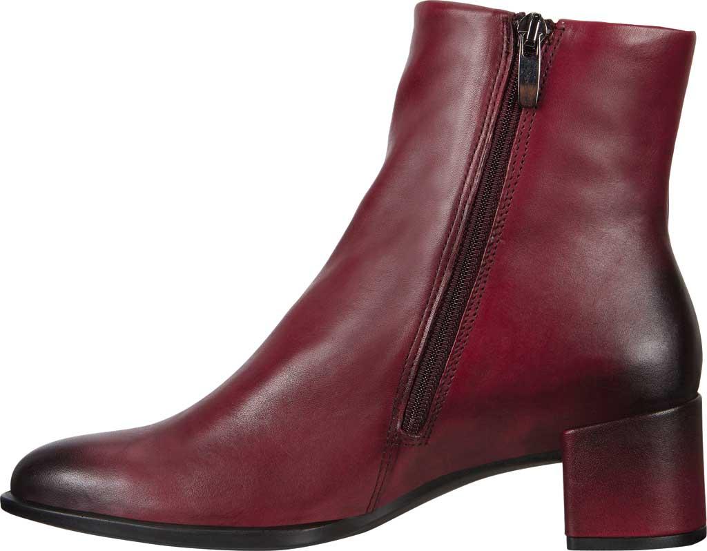 Women's ECCO Shape 35 Block Ankle Boot, Bordeaux Cow Leather, large, image 3