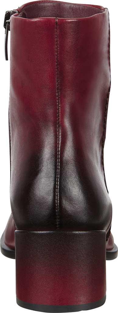 Women's ECCO Shape 35 Block Ankle Boot, Bordeaux Cow Leather, large, image 4