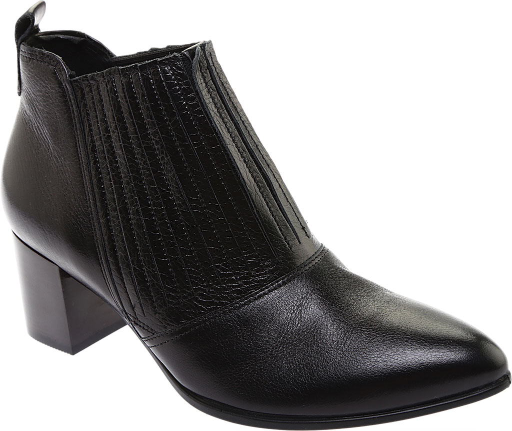 Women's ECCO Shape 45 Block Ankle Bootie, Black Stretch Calf Leather, large, image 1