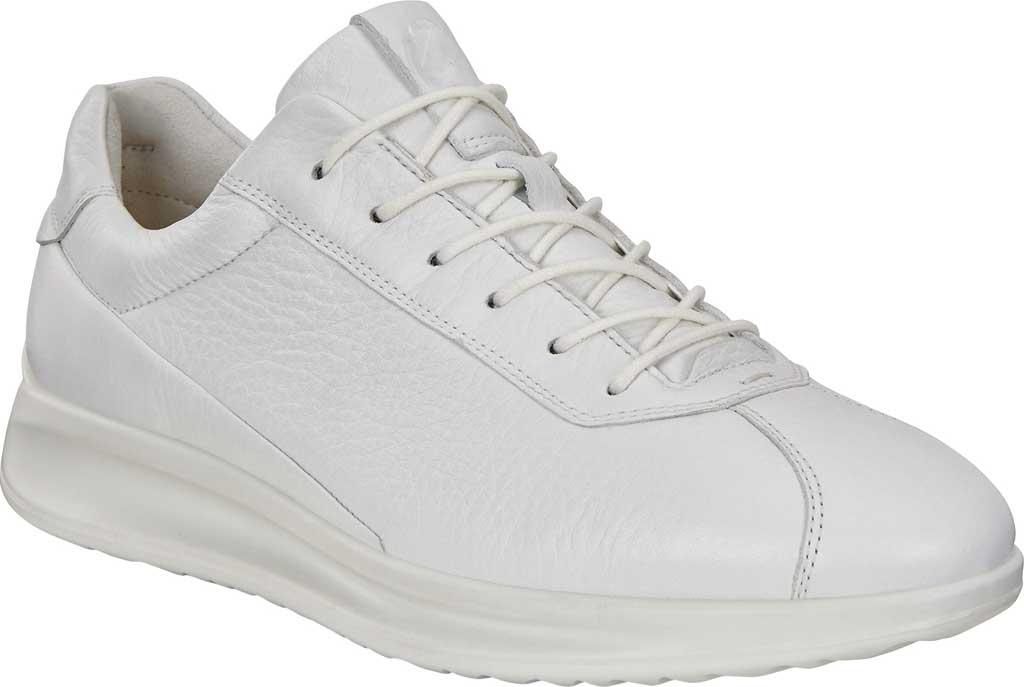 Women's ECCO Aquet Lace Sneaker, White Leather, large, image 1