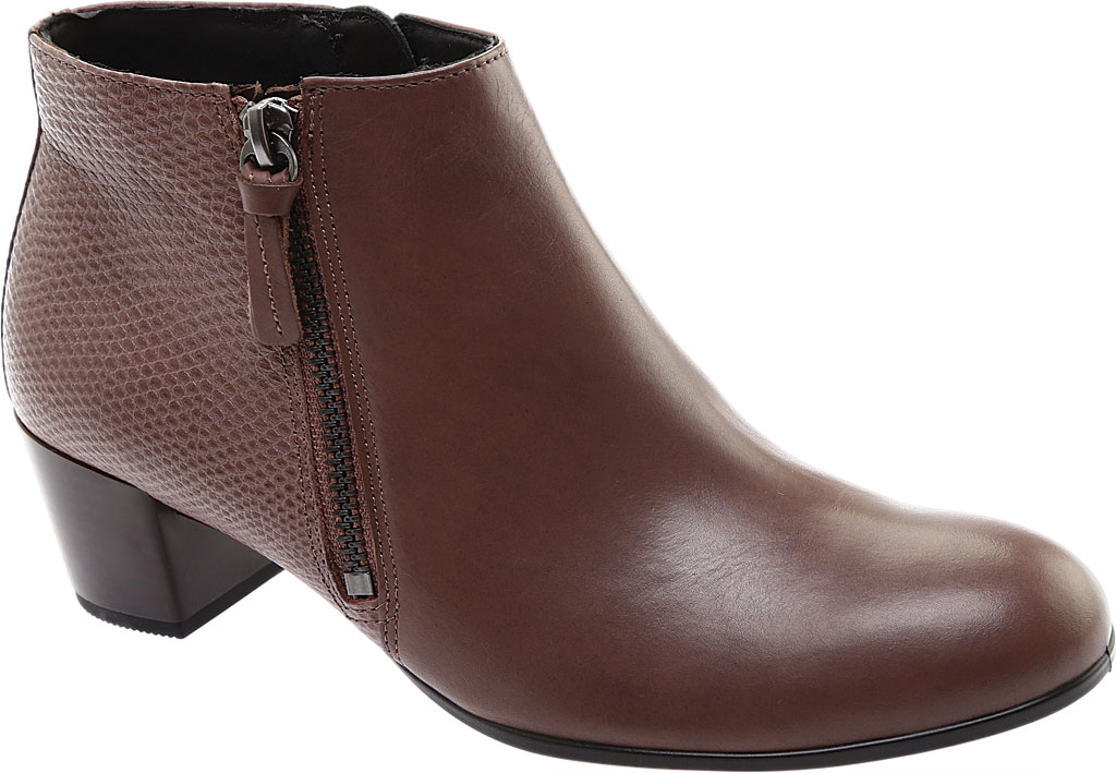 Women's ECCO Shape M 35 Ankle Bootie, Deep Taupe Calf Leather/Deep Taupe Cow Leather, large, image 1