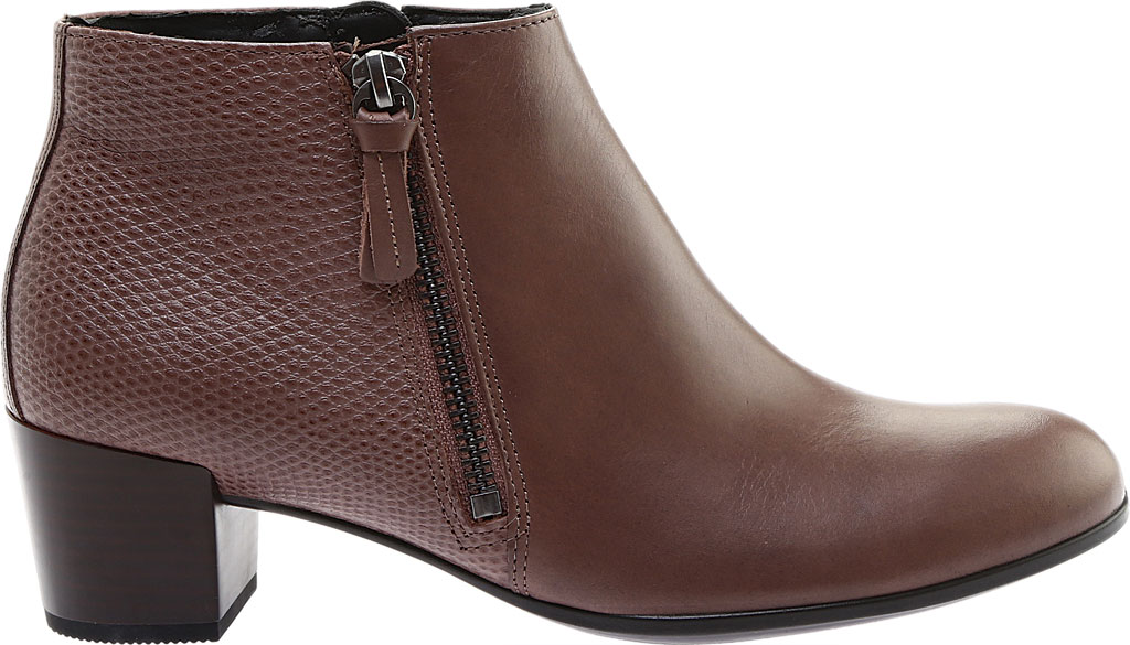 Women's ECCO Shape M 35 Ankle Bootie, Deep Taupe Calf Leather/Deep Taupe Cow Leather, large, image 2