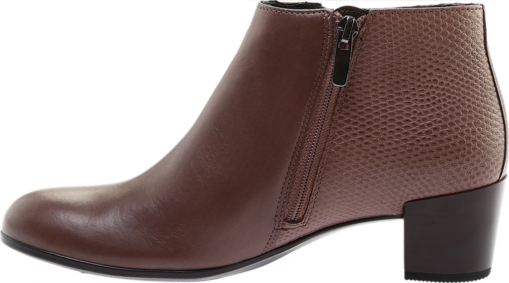 Women's ECCO Shape M 35 Ankle Bootie, Deep Taupe Calf Leather/Deep Taupe Cow Leather, large, image 3