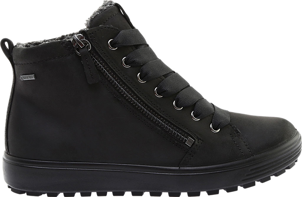 Women's ECCO Soft 7 Tred GORE-TEX High Top Sneaker, Black Cow Oil Nubuck, large, image 2