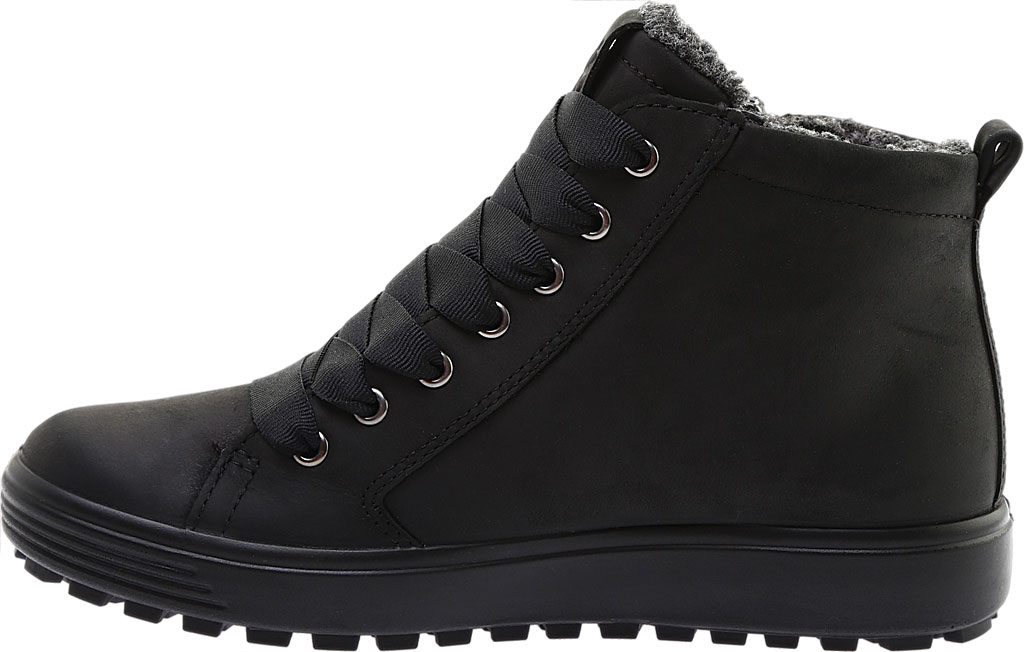 Women's ECCO Soft 7 Tred GORE-TEX High Top Sneaker, Black Cow Oil Nubuck, large, image 3