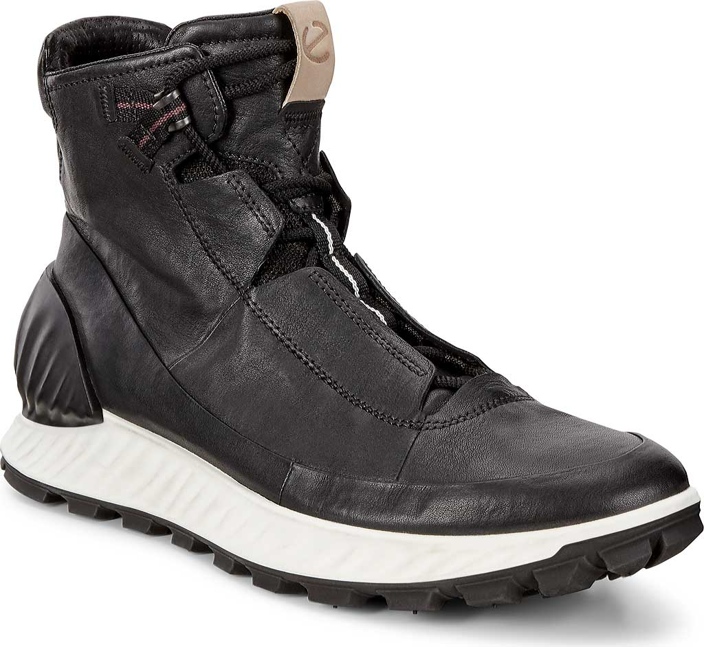 Men's ECCO Exostrike Mid Hiking Boot, Black/Black Leather, large, image 1