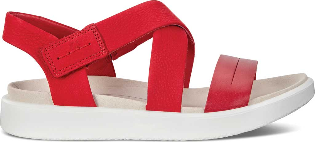 Women's ECCO Flowt Cross Strappy Sandal, Chili Red/Chili Red Leather, large, image 2