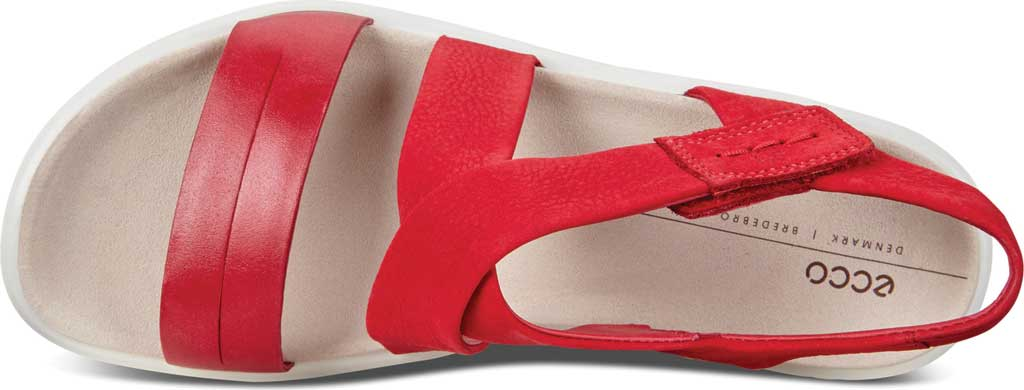 Women's ECCO Flowt Cross Strappy Sandal, Chili Red/Chili Red Leather, large, image 5
