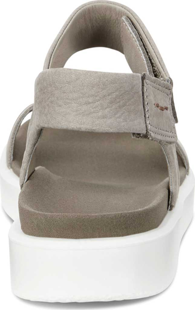 Women's ECCO Flowt Strap Sandal, Moon Rock Silver/Warm Grey Metallic Leather, large, image 4