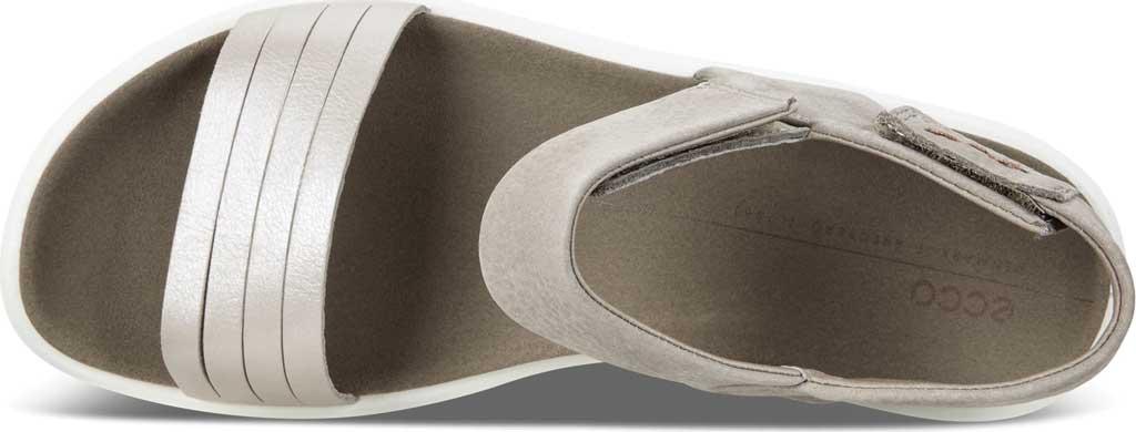 Women's ECCO Flowt Strap Sandal, Moon Rock Silver/Warm Grey Metallic Leather, large, image 5