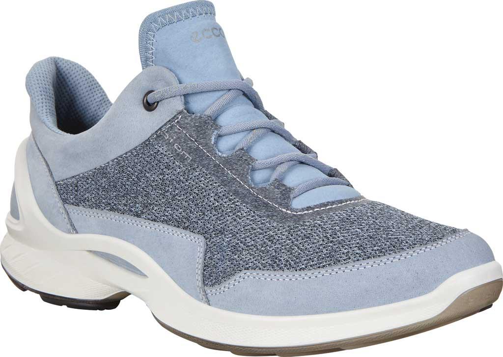 Women's ECCO BIOM Fjuel Mesh Sneaker, Dusty Blue Leather, large, image 1