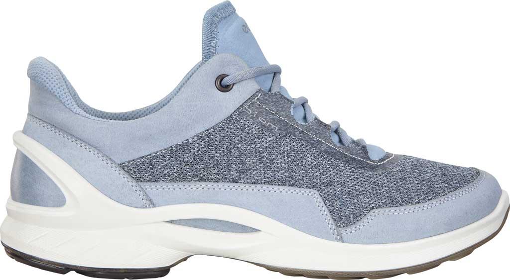 Women's ECCO BIOM Fjuel Mesh Sneaker, Dusty Blue Leather, large, image 2