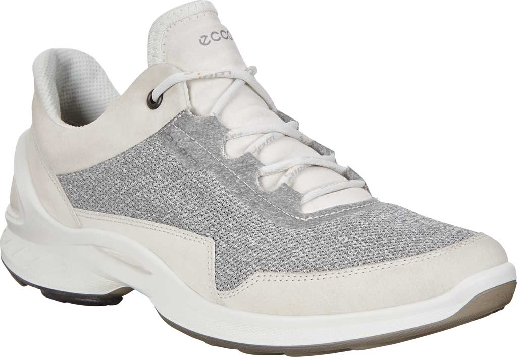 Women's ECCO BIOM Fjuel Mesh Sneaker, Shadow White Leather, large, image 1