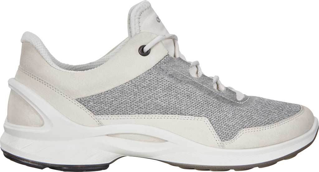 Women's ECCO BIOM Fjuel Mesh Sneaker, Shadow White Leather, large, image 2