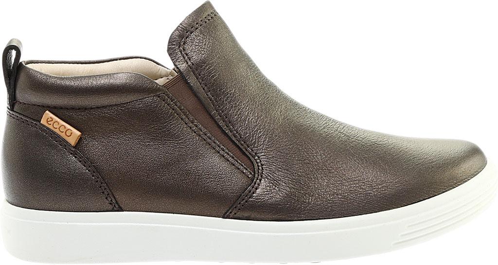 Women's ECCO Soft 7 Slip On Sneaker, Black Stone Metallic Leather, large, image 2