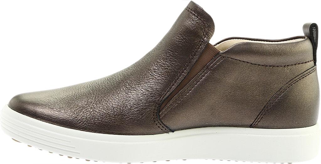 Women's ECCO Soft 7 Slip On Sneaker, Black Stone Metallic Leather, large, image 3