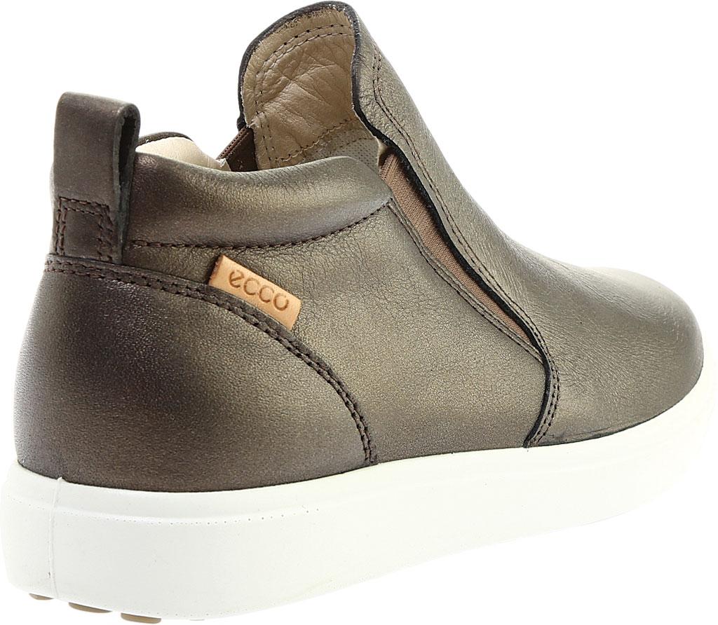 Women's ECCO Soft 7 Slip On Sneaker, Black Stone Metallic Leather, large, image 4