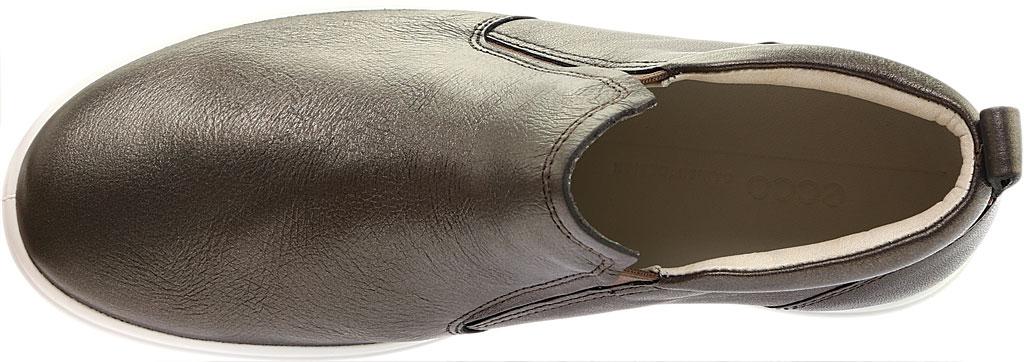 Women's ECCO Soft 7 Slip On Sneaker, Black Stone Metallic Leather, large, image 5