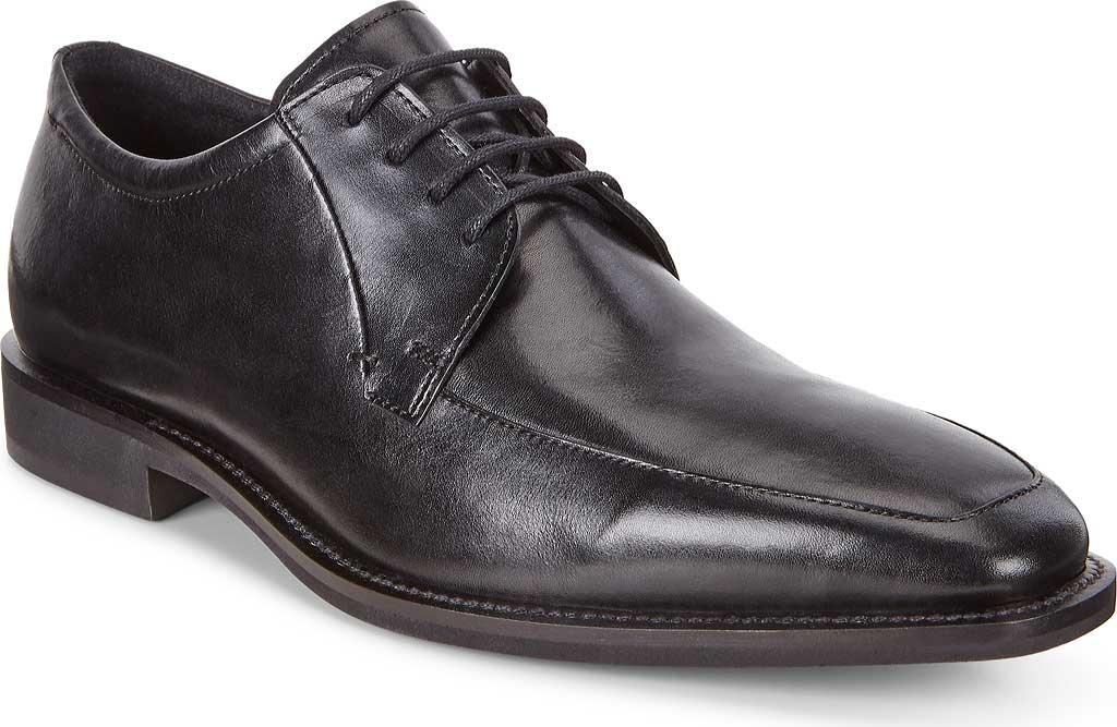 Men's ECCO Calcan Apron Toe Tie Oxford, Black Leather, large, image 1