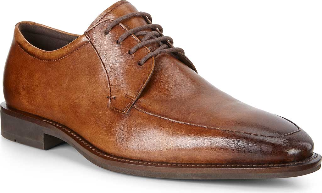 Men's ECCO Calcan Apron Toe Tie Oxford, Amber Leather, large, image 1