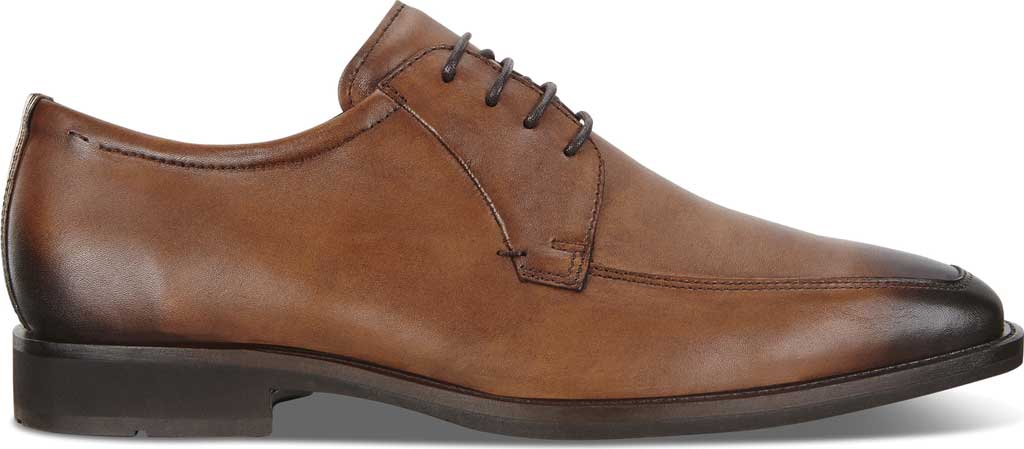 Men's ECCO Calcan Apron Toe Tie Oxford, Amber Leather, large, image 2