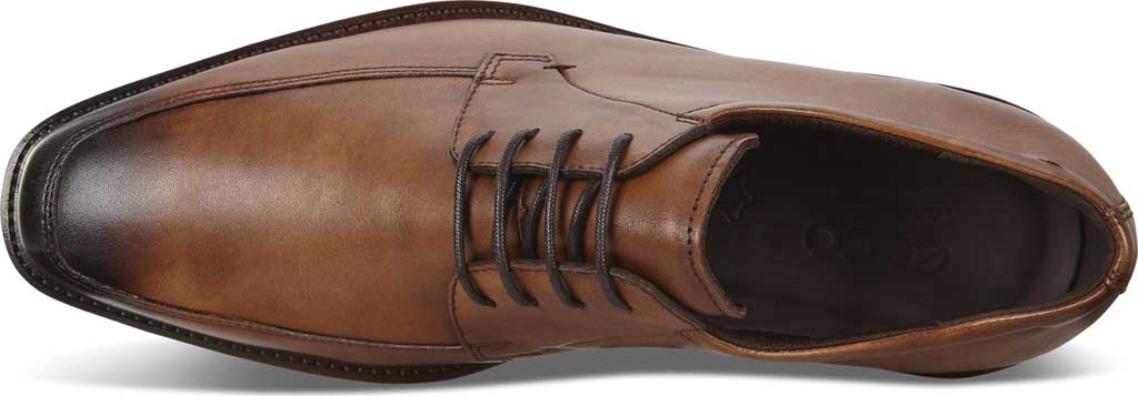 Men's ECCO Calcan Apron Toe Tie Oxford, Amber Leather, large, image 4