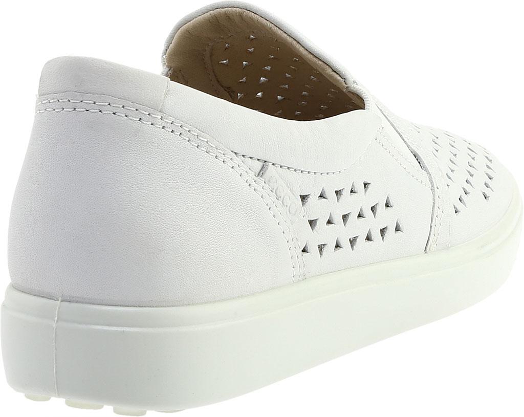 Women's ECCO Soft 7 Laser Cut Slip-On, White Full Grain Leather, large, image 4