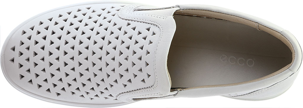 Women's ECCO Soft 7 Laser Cut Slip-On, White Full Grain Leather, large, image 5