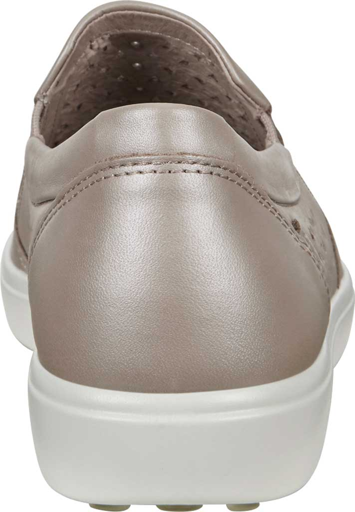 Women's ECCO Soft 7 Laser Cut Slip-On, Grey Rose Metallic Full Grain Leather, large, image 4