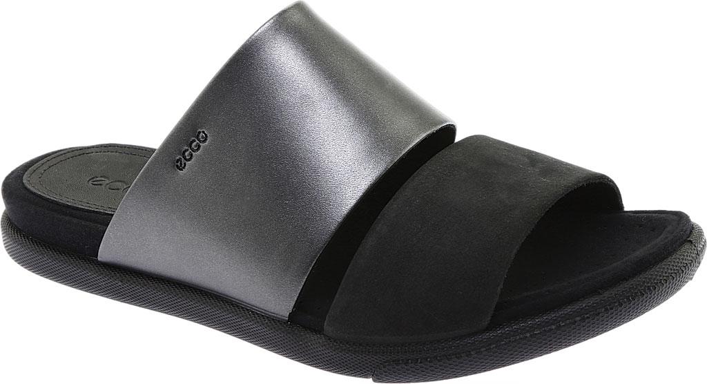 Women's ECCO Damara Slide, Black/Black Dark Shadow Leather, large, image 1