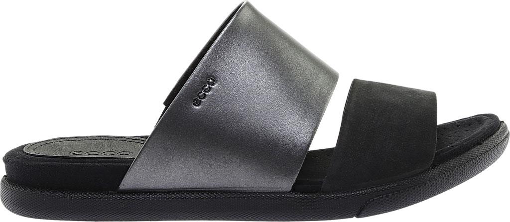 Women's ECCO Damara Slide, Black/Black Dark Shadow Leather, large, image 2