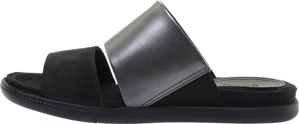 Women's ECCO Damara Slide, Black/Black Dark Shadow Leather, large, image 3