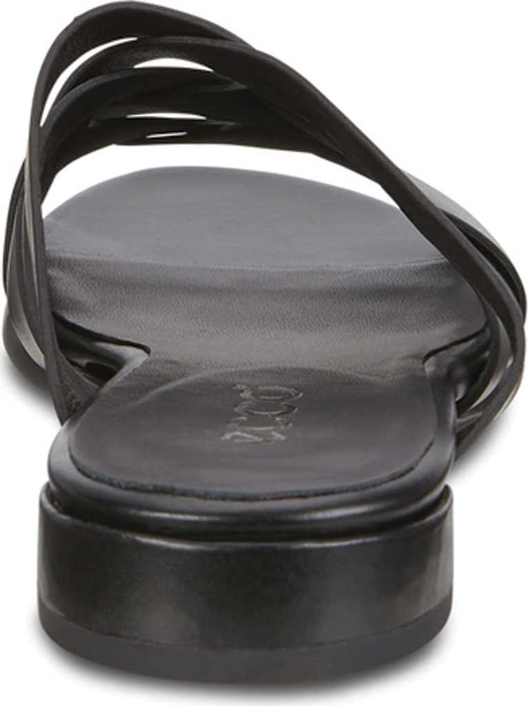 Women's ECCO Flat Strappy Slide, Black Leather, large, image 4