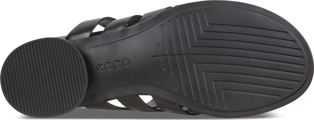 Women's ECCO Flat Strappy Slide, Black Leather, large, image 6
