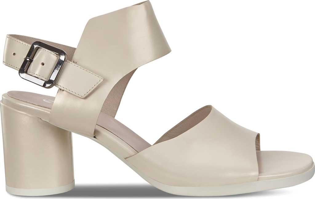 Women's ECCO Shape 65 Block Ankle Strap Sandal, Vanilla Metallic Leather, large, image 2
