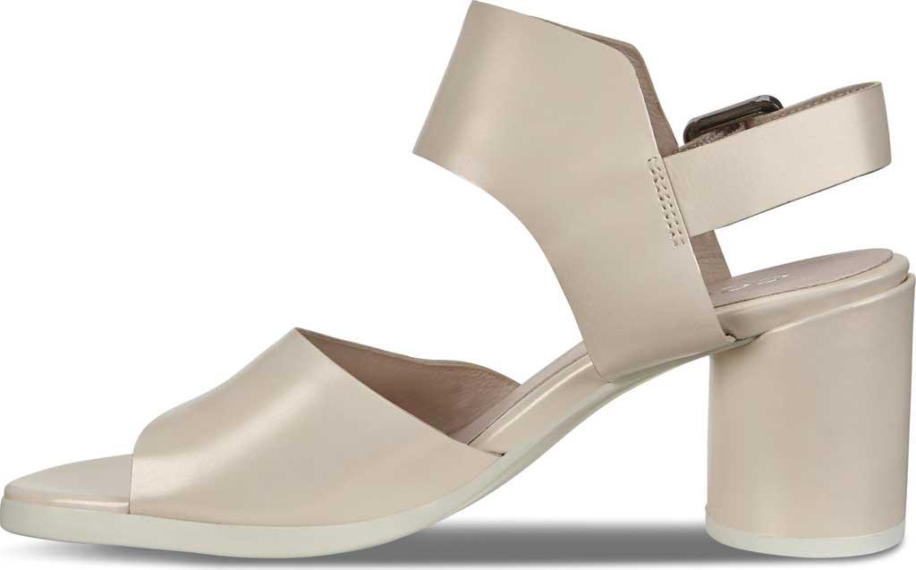 Women's ECCO Shape 65 Block Ankle Strap Sandal, Vanilla Metallic Leather, large, image 3