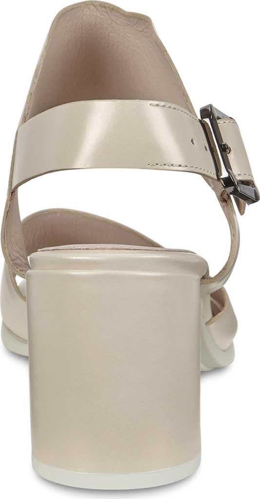 Women's ECCO Shape 65 Block Ankle Strap Sandal, Vanilla Metallic Leather, large, image 4