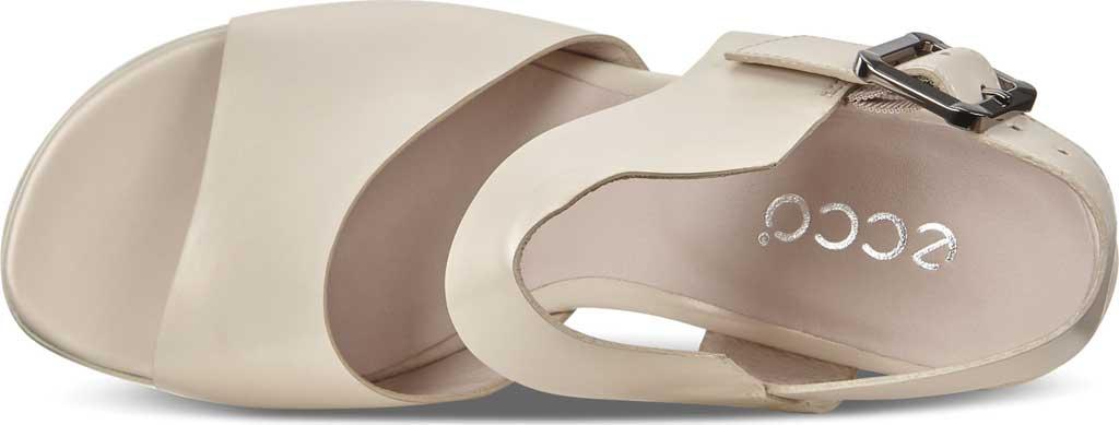 Women's ECCO Shape 65 Block Ankle Strap Sandal, Vanilla Metallic Leather, large, image 5