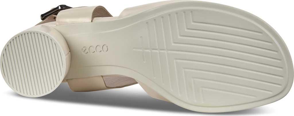 Women's ECCO Shape 65 Block Ankle Strap Sandal, Vanilla Metallic Leather, large, image 6