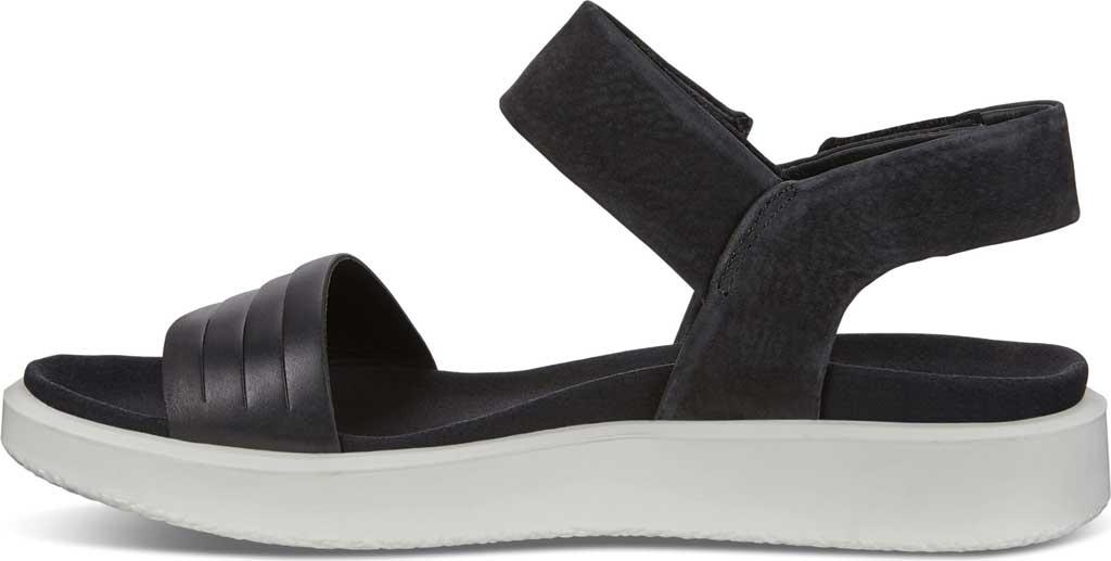 Women's ECCO Flowt Strappy Sandal, Black/Black Leather, large, image 3