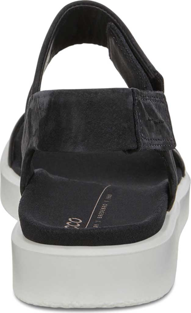 Women's ECCO Flowt Strappy Sandal, Black/Black Leather, large, image 4