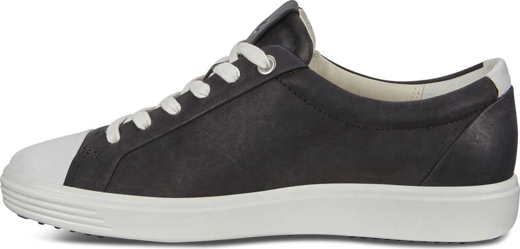 Women's ECCO Soft 7 Cap Toe Sneaker, White/Black Nubuck, large, image 3