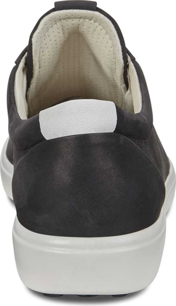 Women's ECCO Soft 7 Cap Toe Sneaker, White/Black Nubuck, large, image 4