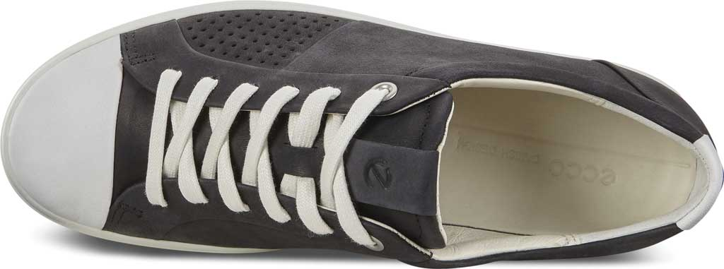 Women's ECCO Soft 7 Cap Toe Sneaker, White/Black Nubuck, large, image 5