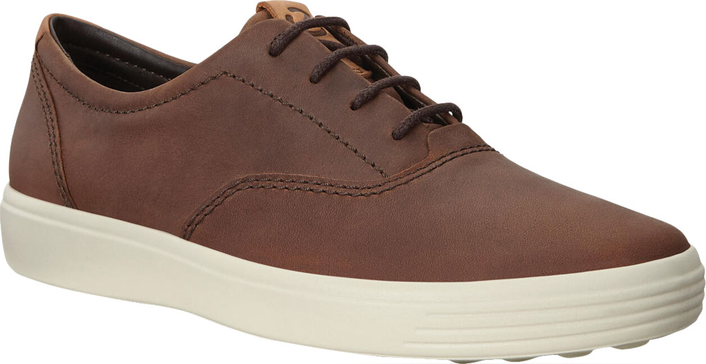 Men's ECCO Soft 7 CVO Sneaker, Cocoa Brown Leather, large, image 1