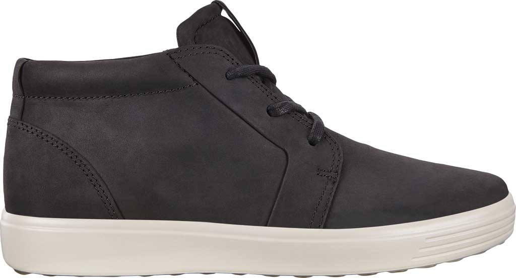 Men's ECCO Soft 7 Chukka High Top, Black Leather, large, image 2