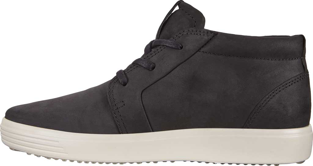 Men's ECCO Soft 7 Chukka High Top, Black Leather, large, image 3