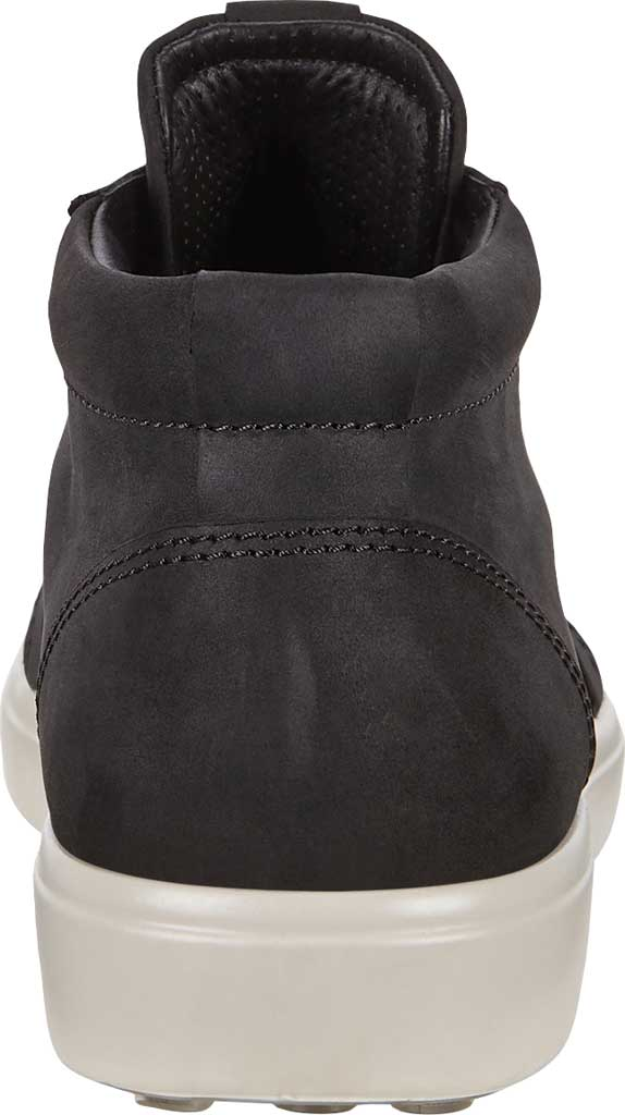 Men's ECCO Soft 7 Chukka High Top, Black Leather, large, image 4